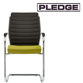 Pledge Plan Ribbed Medium Back Cantilever Visitor Chair £327 - Office Chairs