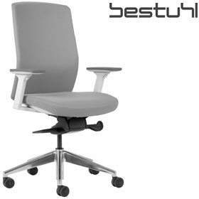 Bestuhl J2 White & Grey Fabric Task Chair £329 - Office Chairs