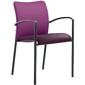 Theo Leather & Mesh 4 Leg Conference Chair £161 - Office Chairs