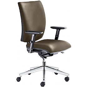 Lyra Faux Leather Operator Chair £254 - Office Chairs