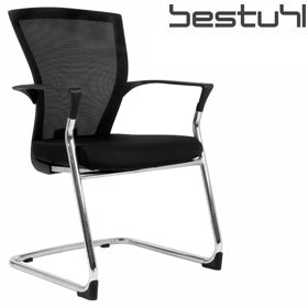 Bestuhl E1 Mesh Cantilever Meeting Chair Polished Frame £189 - Office Chairs