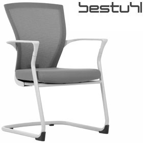 Bestuhl E1 Mesh Cantilever Meeting Chair White Frame £203 - Office Chairs