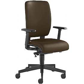 Tango Leather Operator Chair £323 - Office Chairs