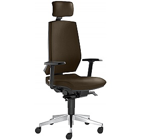 Stream Leather Executive Chair £346 - Office Chairs