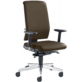 Zeta Leather Operator Chair £384 - Office Chairs