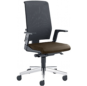 Zeta Leather & Mesh Operator Chair £384 - Office Chairs