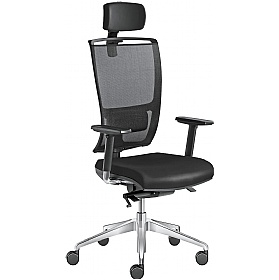 Lyra Net Leather & Mesh Executive Chair £408 - Office Chairs