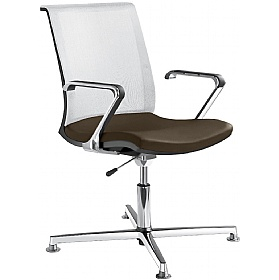 Lyra Net Leather & Mesh Swivel Conference Chairs £329 - Office Chairs