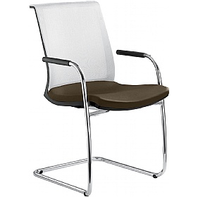 Lyra Net Leather & Mesh Cantilever Conference Chair £334 - Office Chairs
