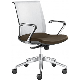 Lyra Net Leather & Mesh Task Chairs £310 - Office Chairs