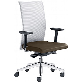 Web Leather & Mesh Operator Chair £313 - Office Chairs