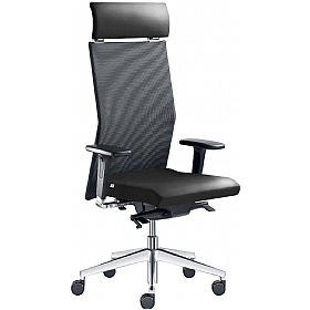 Web Leather & Mesh Executive Chair £416 - Office Chairs