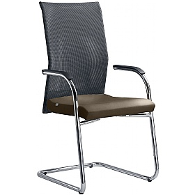 Web Leather & Mesh Cantilever Conference Chair £370 - Office Chairs