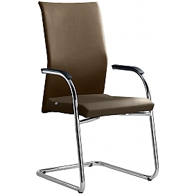 Web Leather Cantilever Conference Chair £340 - Office Chairs