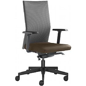 Omega Leather & Mesh Operator Chair £337 - Office Chairs