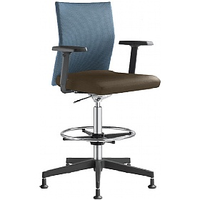 Omega Leather & Mesh Ring Base Chair £377 - Office Chairs