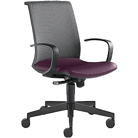 Omega Leather & Mesh Task Chair £304 - Office Chairs
