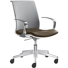 Omega Leather & Mesh Premium Task Chair £343 - Office Chairs