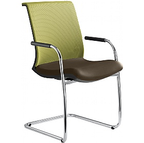 Omega Leather & Mesh Cantilever Conference Chair £337 - Office Chairs