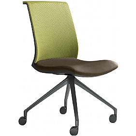 Omega Leather & Mesh Mobile Conference Chair £327 - Office Chairs