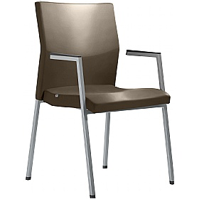 Active Leather Stackable Conference Chair £323 - Office Chairs
