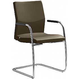 Opus Leather Cantilever Conference Chair £329 - Office Chairs
