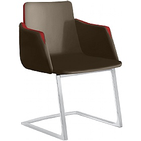 Harmony Leather Cantilever Conference Chairs £577 - Office Chairs