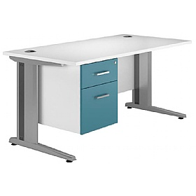 NEXT DAY Kaleidoscope Cantilever Deluxe Single Fixed Pedestal Desks £260 - Next Day Office Furniture