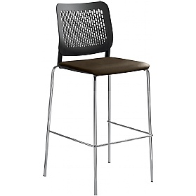 Time Faux Leather Padded Plastic Tall Bistro Stools £202 - Bistro Furniture
