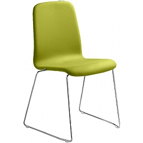Smile Vinyl Skid Base Stackable Chairs £196 - Office Chairs