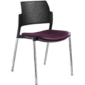 Dream+ Leather Stackable 4-Leg Chairs £139 - Office Chairs