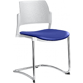 Dream+ Leather Stackable Cantilever Chairs £169 - Office Chairs