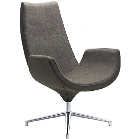 Relax Fabric High Back Swivel Armchairs £636 - Reception Furniture