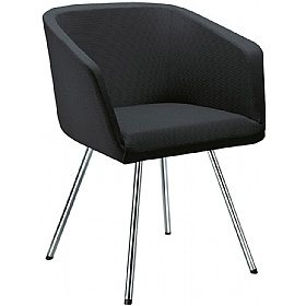 Polo Fabric 4-Leg Reception Armchairs £384 - Reception Furniture