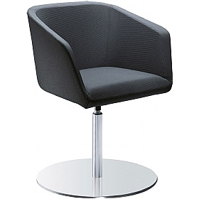 Polo Fabric Disc Base Reception Armchairs £454 - Reception Furniture