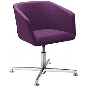 Polo Fabric 4-Star Base Reception Armchairs £454 - Reception Furniture