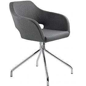 Polo Fabric Cross Base Reception Armchairs £413 - Reception Furniture