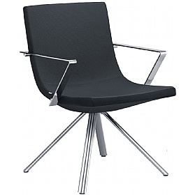 Moon Fabric 4-Leg Reception Chairs £396 - Reception Furniture