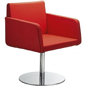 Delta Fabric Disc Base Reception Chairs £506 - Reception Furniture