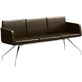 Delta Leather Reception Sofas £997 - Reception Furniture