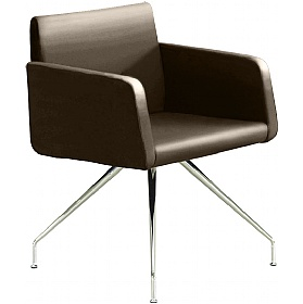 Delta Leather 4-Leg Reception Chairs £544 - Reception Furniture