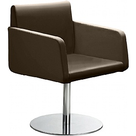 Delta Leather Disc Base Reception Armchair £537 - Reception Furniture