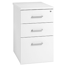 NEXT DAY Polar Desk High Pedestals £158 - Next Day Office Furniture