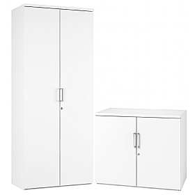 NEXT DAY Polar Office Cupboards £148 - Next Day Office Furniture