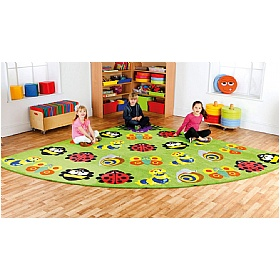 Back To Nature Bugs Large Corner Carpet £269 - Education Furniture
