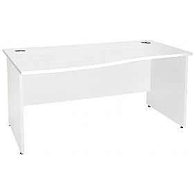 NEXT DAY Polar Panel End Wave Desks £151 - Next Day Office Furniture