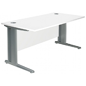 NEXT DAY Polar Cantilever Rectangular Systems Desks £161 - Next Day Office Furniture