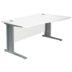NEXT DAY Polar Cantilever Wave Systems Desks £192 - Next Day Office Furniture