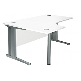 NEXT DAY Polar Cantilever Ergonomic Systems Desks £236 - Next Day Office Furniture