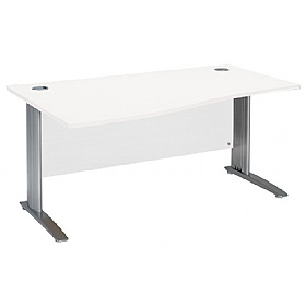 NEXT DAY Polar Cantilever Wave IT Desks £208 - Next Day Office Furniture